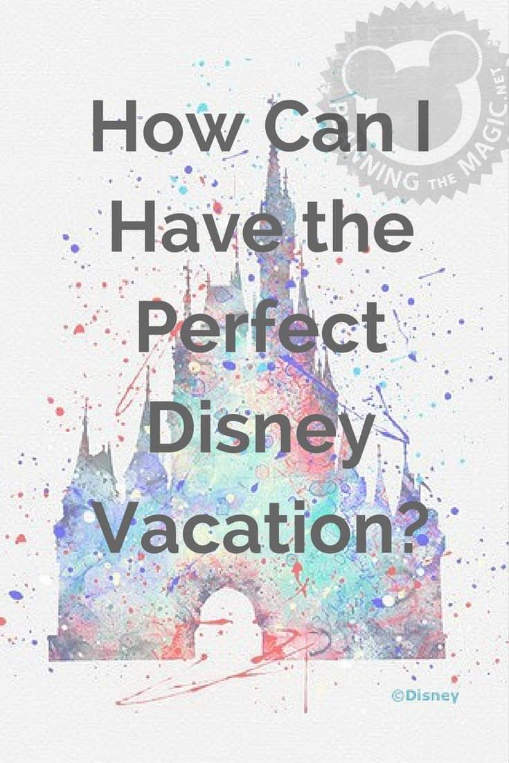 perfect disney vacation
