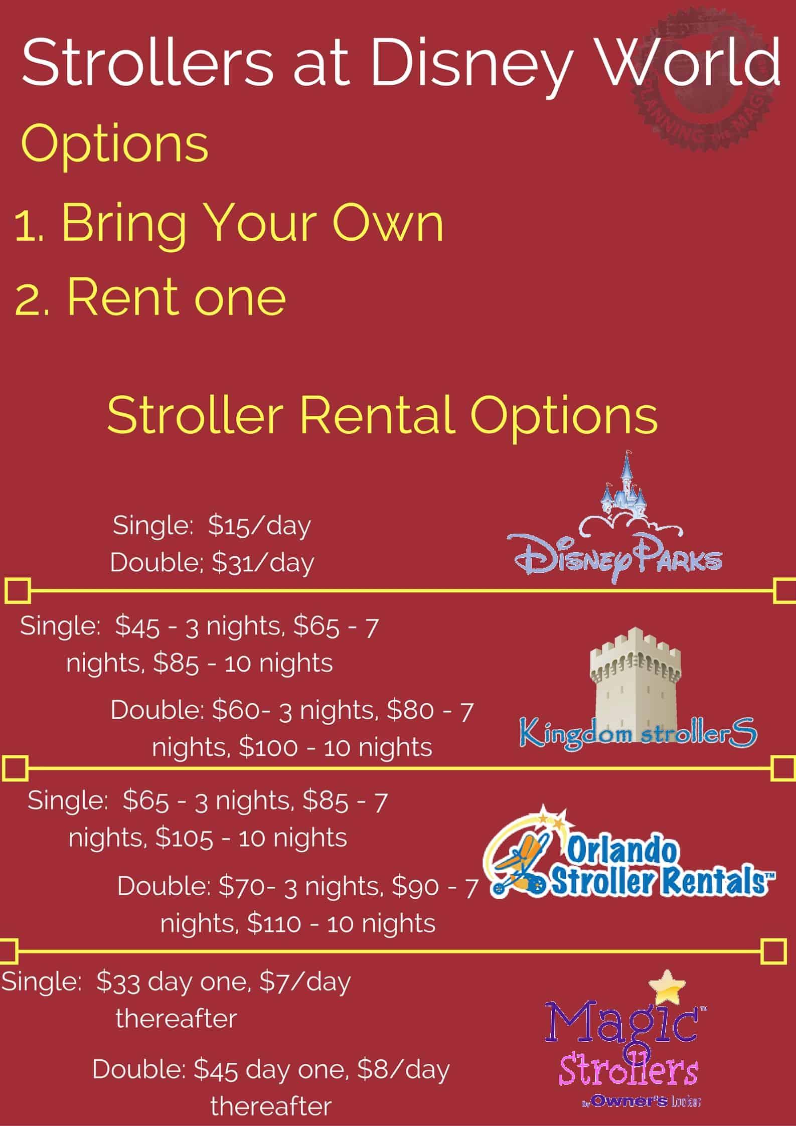 Walt Disney World Stroller Rental