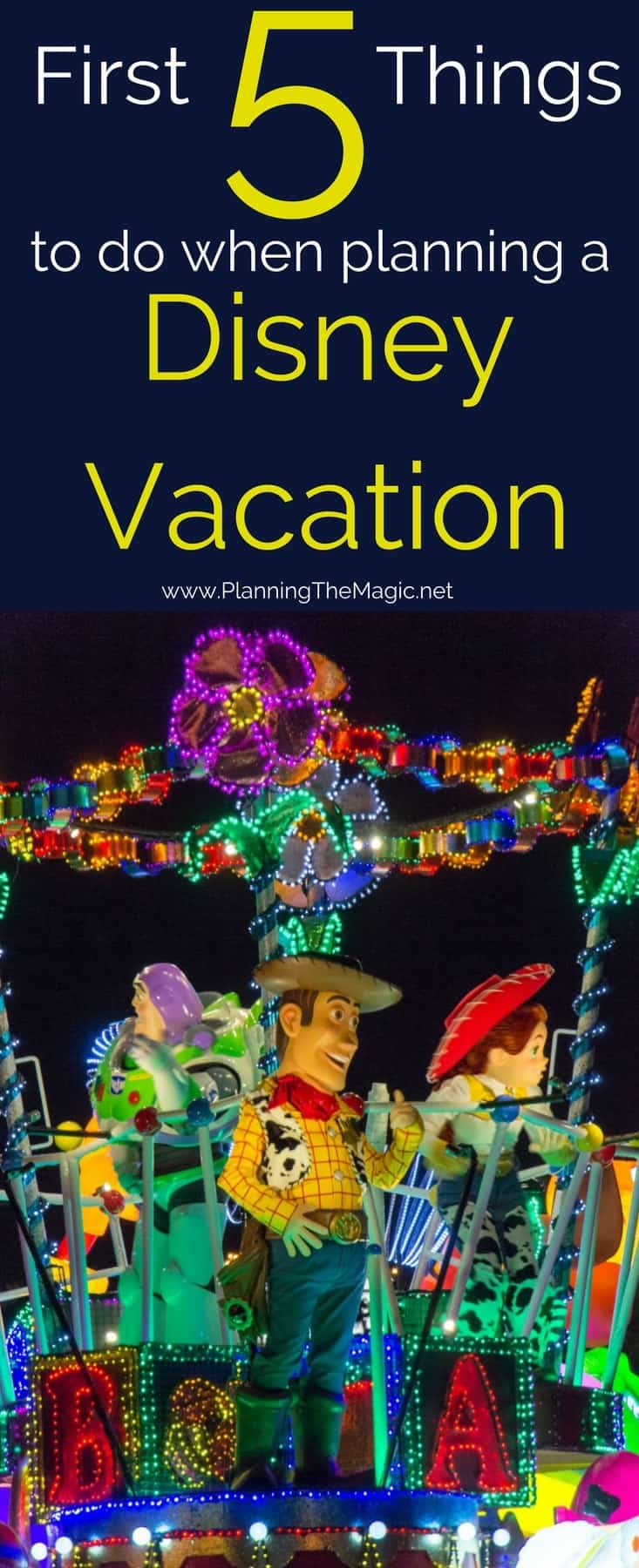 first 5 things disney vacation