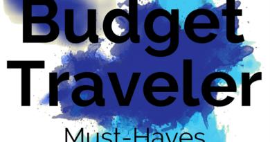 budget traveler must-haves