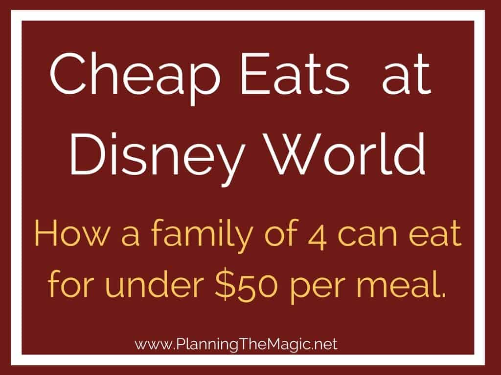 Cheap Eats at Disney World