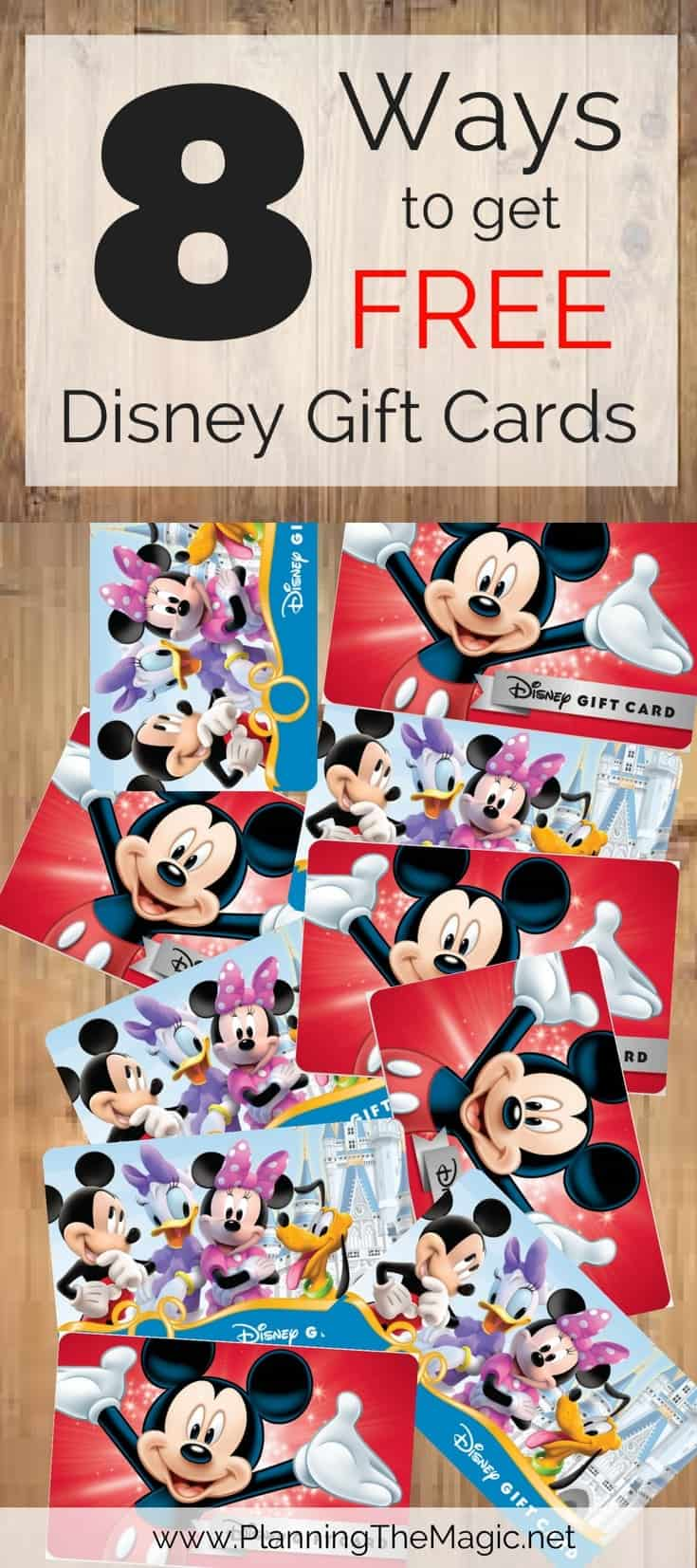 free disney gift cards