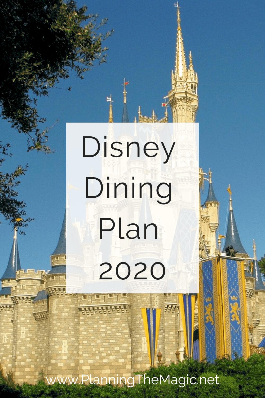 Disney Dining plan 2020