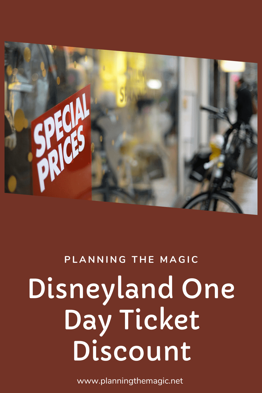 disneyland one day ticket discount